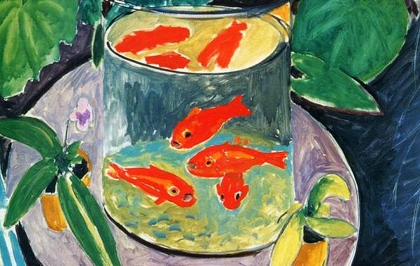 """Нарисувайте златни рибки в стил """"Матис"""" с акрилни бои"""