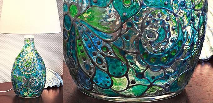 Декорация върху стъклена повърхност: да създадем наш Тифани-ефект