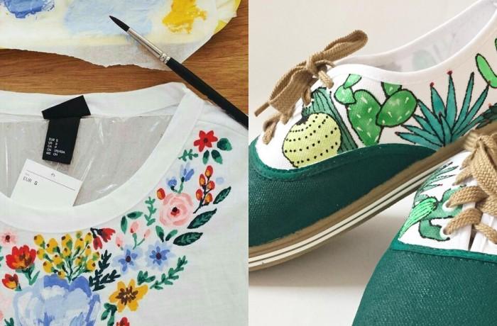 Рисуване върху текстил – тениска, чанта, или кецове…