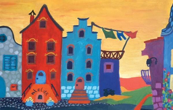 """Нарисувай """"Цветни холандски къщички"""""""